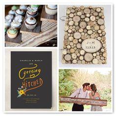 wooden detail wedding album or guest book  Woodsy Barn Wedding
