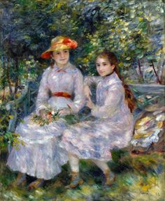 "https://www.facebook.com/MiaFeigelson ""The daughters of Durand-Ruel"" (1882) By Pierre-Auguste Renoir, French Artist (1841-1919) oil on canvas; 81.3 x 65.4 cm; 32 x 25 3/4 in © The Chrysler Museum of Art, Norfolk, Virigina, US Gift of Walter P. Chrysler, Jr. in memory of Thelma Chrysler Foy, 1971 http://www.chrysler.org/ https://www.facebook.com/ChryslerMuseum"