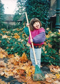 Wordless Wednesday: My Eldest Niece Rockin' Out with a Rake Back in the 90s