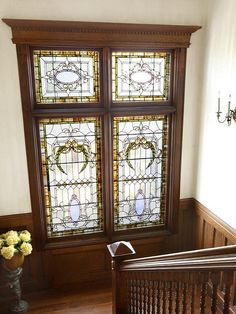 The Pennington mansion interior Victorian stained glass window by techpro12, via Flickr