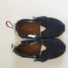 Navy Blue Toms Bimini Shoes - Size 7 Toddler  #Toms #CasualShoes