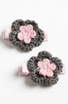 PLH Bows & Laces Crochet Hair Clips (Set of 2) (Toddler) | Nordstrom