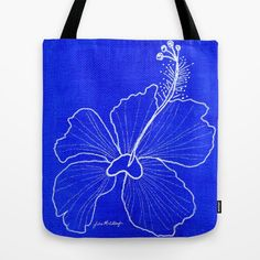 Blue Peace Tote Bag  www.juliemstudios.com