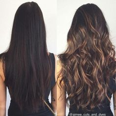 Lights on dark brown hair