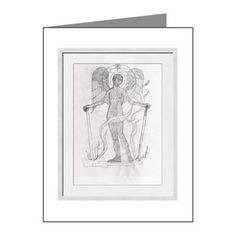 Angel Of The Divide Note Cards