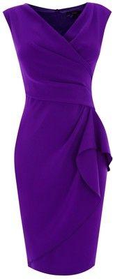 Coast Emmy Crepe Dress, Purple