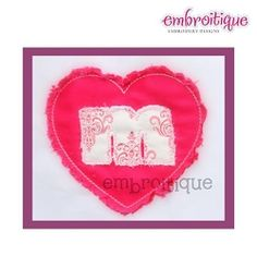 Shaggy Valentine Monogram Set - 3 Sizes! | Valentine's Day | Machine Embroidery Designs | SWAKembroidery.com Embroitique