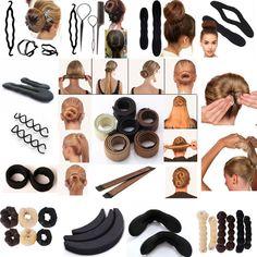 1.0AUD - Hot!! Useful Magic Sponge Clip Foam Bun Curler Twist Hair Styling Maker Tool Hs #ebay #Fashion
