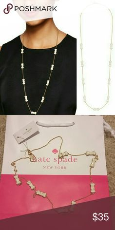 NWT Kate Spade Take a Bow Necklace NWT Kate Spade Take a Bow Necklace.   Price is firm. Please let me know if you need more pictures or have any questions. kate spade Jewelry Necklaces