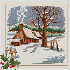 "Free cross-stitch pattern ""Seasons-Winter"" 