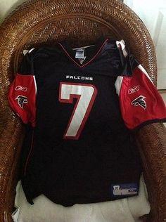 cc001a7ce Atlanta Falcons Reebok NFL Michael Vick 7 Black Jersey Size XL Mens ...