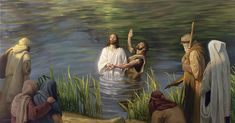 Ilustración del bautismo de Jesucristo