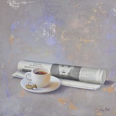 "Saatchi Online Artist Tomasa Martin; Painting, ""Newspaper "" #art"