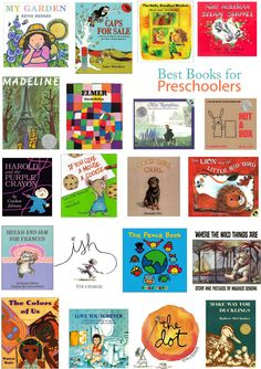 The Best Books for Preschoolers - Hither & Thither Preschool Books, Preschool Kindergarten, Toddler Preschool, Toddler Books, Childrens Books, Kids Toys For Boys, Reading Club, Books For Teens, Book Projects