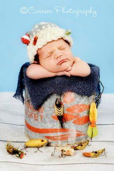 Infant fish theme photo shoot