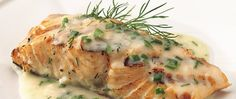 Blend a fragrant and fresh dill and lemon sauce right before serving perfectly grilled fillets.