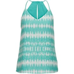 maurices Patterned Reversible Chiffon Tank ($24) ❤ liked on Polyvore