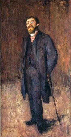 Portrait of the Painter Jensen Hjell - Edvard Munch