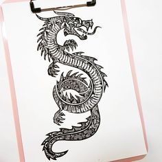 Excited to share this item from my shop: Dragon Mandala Real Foil Print Dragon Tattoo Forearm, Asian Dragon Tattoo, Dragon Tattoo For Women, Spine Tattoos For Women, Half Sleeve Tattoos For Guys, Tribal Sleeve Tattoos, Tattoo Women, Chest Tattoo Wings, Drake Tattoos