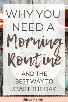 A good morning routine: I set my alarm an hour before the kids get up. I have discovered that how I start my day sets the standard for the rest of the day. Holistic Wellness, Holistic Approach, Self Development, Personal Development, Morning Habits, Morning Routines, Meditation Exercises, Evening Routine, Romance
