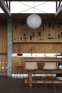 great mix of materials - minimalism makes the cabinet details stand out