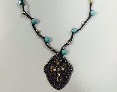Pearl crochet necklace Gigi crochet necklace by 3DivasStudio