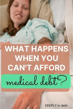 Navigating medical bills can be extremely overwhelming. When it comes to medical debt you can't afford, you have options. Here's what to do when you can't afford medical debt. Paying Off Student Loans, Student Loan Debt, Lds Blogs, Finance Organization, Thing 1, Get Out Of Debt, Financial Tips, Debt Payoff, Budgeting Tips
