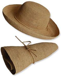 raffia crocheted sun hat