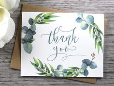 Your place to buy and sell all things handmade Set of 8 TH. - Your place to buy and sell all things handmade Set of 8 THANK YOU CARDS Thank - Wedding Cards Handmade, Wedding Thank You Cards, Thank You Notes, Thank You Gifts, Valentine Gifts For Boys, Karten Diy, Hand Art, Watercolor Cards, Watercolour