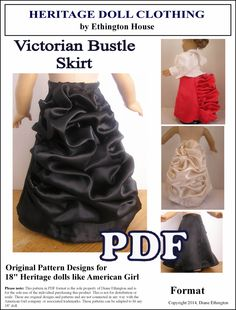 Victorian Bustle Skirt Pattern for American Girl by MotherofNine