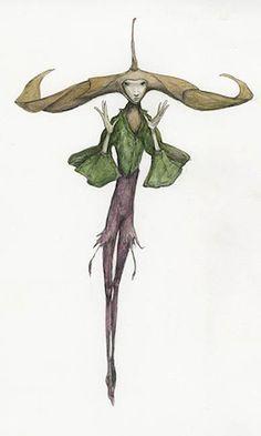 Pixie Wimple - Pencil, coloured pencil, watercolour Magical Creatures, Fantasy Creatures, Fantasy Images, Fantasy Art, Illustrations, Illustration Art, Arte Elemental, Spiderwick, Brian Froud