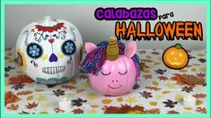 "CÓMO DECORAR CALABAZAS PARA HALLOWEEN! Calabazas fáciles de hacer! 🎃  Mira lo fácil que es decorar esta ""Calabaza de Unicornio"" y esta ""Calabaza de Día de muertos"" para este Halloween! Diy Halloween Decorations, Halloween Diy, Ideas Paso A Paso, Manualidades Halloween, Piggy Bank, The Originals, Videos, Paper Pumpkin, Painted Pumpkins"
