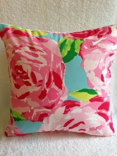 Lilly Pulitzer PillowLilly Pillow CoverHotty by SweetBabyBurpies, $30.00
