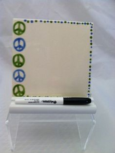 Ceramic Tile Dry Erase Message Board Peace By Shadylaneceramics 15 00