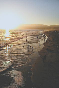 Santa Monica California it has the best sunsets from what i hear