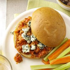 Buffalo Sloppy Joes - I've made these twice for dinner and I love them so much! You have to try them if you like buffalo sauce.