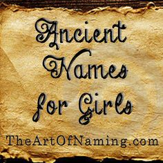 Ancient history has plenty of great names just waiting to be used today! #babynames