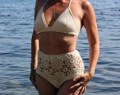 Items similar to biquini de crochet e lycra em cores variadas, bikini crochet feito a mao on Etsy