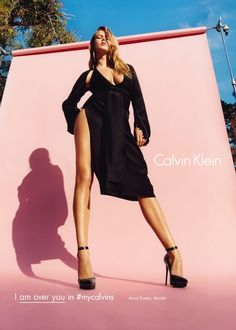 "Anna Ewers and others for Calvin Klein Fall/Winter 2016 Campaign is all about individuality while still promoting the classic brand products the saying ""I am ____ in my calvins"" promotes personal brand and independence which has been very successful in social media having consumers and celebrities participate. - Haley Osteraa"
