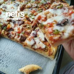 How to make pizza/quick & easy pizza recipe -- Cooking A Dream Grill Breakfast, Breakfast Recipes, Gourmet Pizza Recipes, Cooking Recipes, Quick And Easy Pizza Recipe, How To Make Pizza, Vegetable Pizza, Italian Recipes, Easy Meals