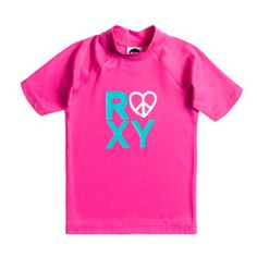 Roxy Girls Love and Peace Fandango Pink UV Swim Shirt - Click for more information and to buy