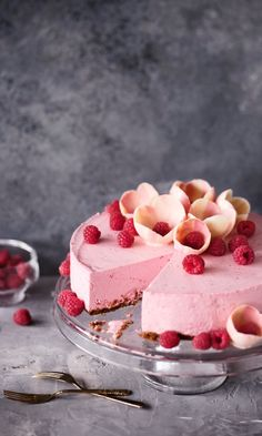 dessert, food, and raspberry mousse cake kép Cake Recipes, Dessert Recipes, Dessert Food, Sweet Pastries, Mousse Cake, Vegan Cake, Piece Of Cakes, Vegan Baking, Sweet And Salty