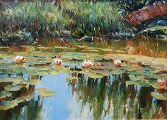 artist Likhomanov, Yuri, Pond. Water lilies