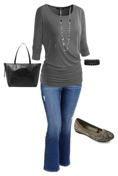 """Plus size casual fall outfit"" by jmc6115 on Polyvore"