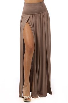 High waist banded maxi skirt with slit opening...I shall purchase this weekend