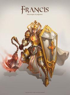 GGSCHOOL, Artist 위지은, Student Portfolio for game, 2D Character Concept Art, www.ggschool.co.kr 2d Character, Character Concept, Concept Art, Paladin, Clock, Princess Zelda, Game, Fictional Characters, Decor