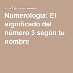 Numerología: El significado del número 3 según tu nombre