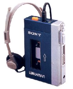 Sony Walkman.  This was how the 80's listened to music.  But, you had to rewind and fast forward through the bad stuff.  <3  I had similar one!!!  Used to wear out the batteries really FAST!