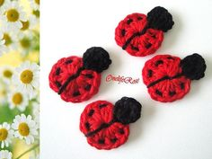 Crochet Ladybugs by OnelifeRosen on Etsy, $3.50