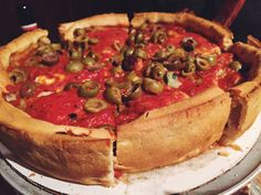 The BEST deep dish pizza in Chicago. #deepdishpizza #chicago #deepdish #pizza